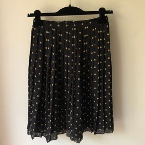 Kate Hill Skirts - Kate Hill Black w/ Gold polka dots